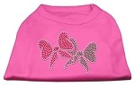 Christmas Bows Rhinestone Shirt Bright Pink XS (8)